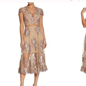 Gorgeous embroidered two piece gown worn once